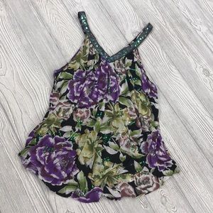 Free People sequin floral tank top - sz XS